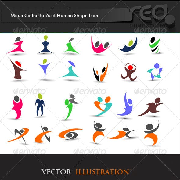 Fitness Human Icon Vector Pack