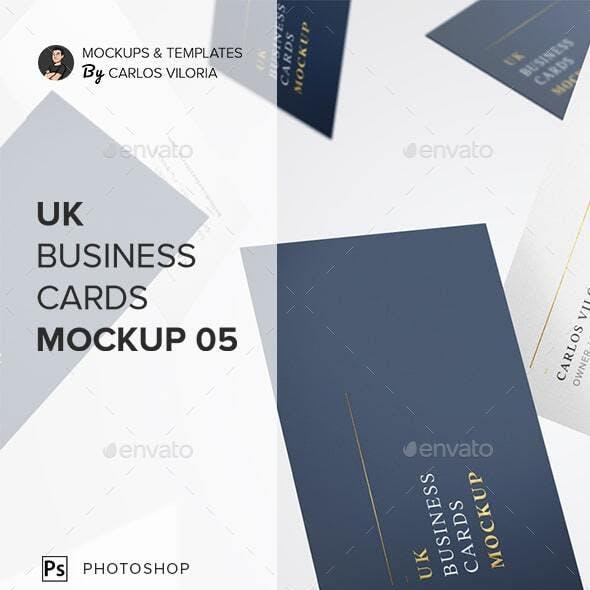 UK Business Cards Mockup 05