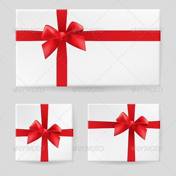 Red Gift Bow - Characters Vectors