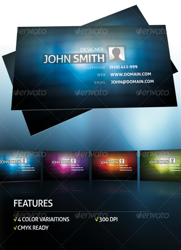 4 Colors Business Card - Corporate Business Cards