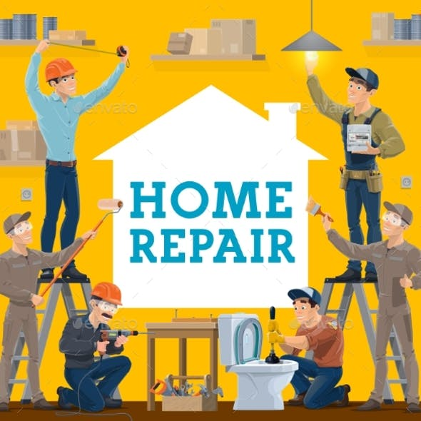 House Repair and Construction Workers, Work Tools