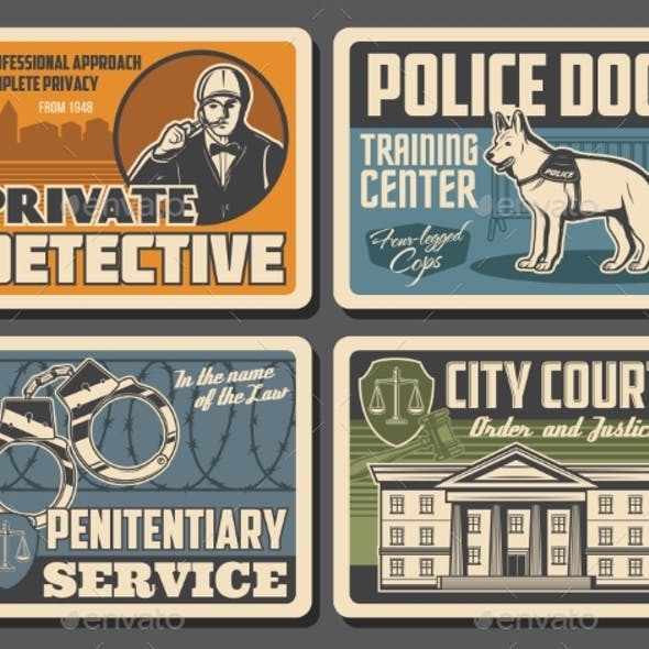 Police, Detective, Justice, Court, Law and Order