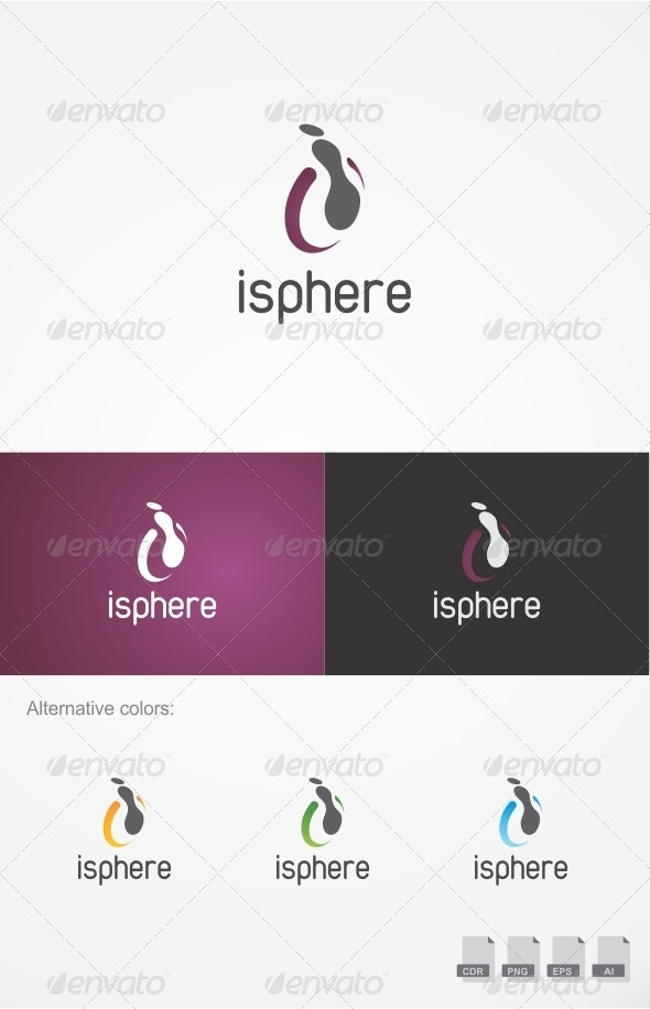 Isphere -  Software logo - Letters Logo Templates