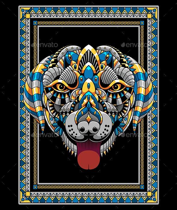 Dog Mandala Zentangle - Animals Characters