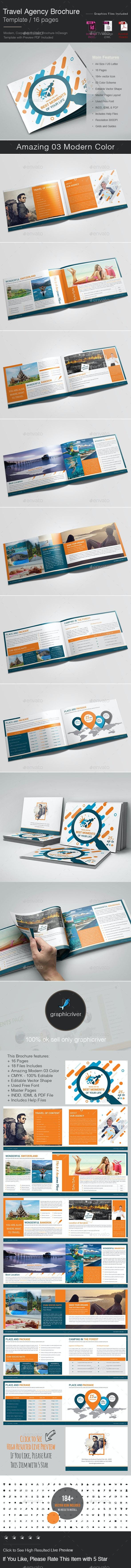 Travel Agency Brochure Template - Corporate Brochures
