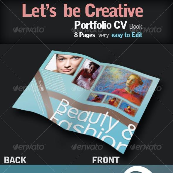 Portfolio CV Book with style