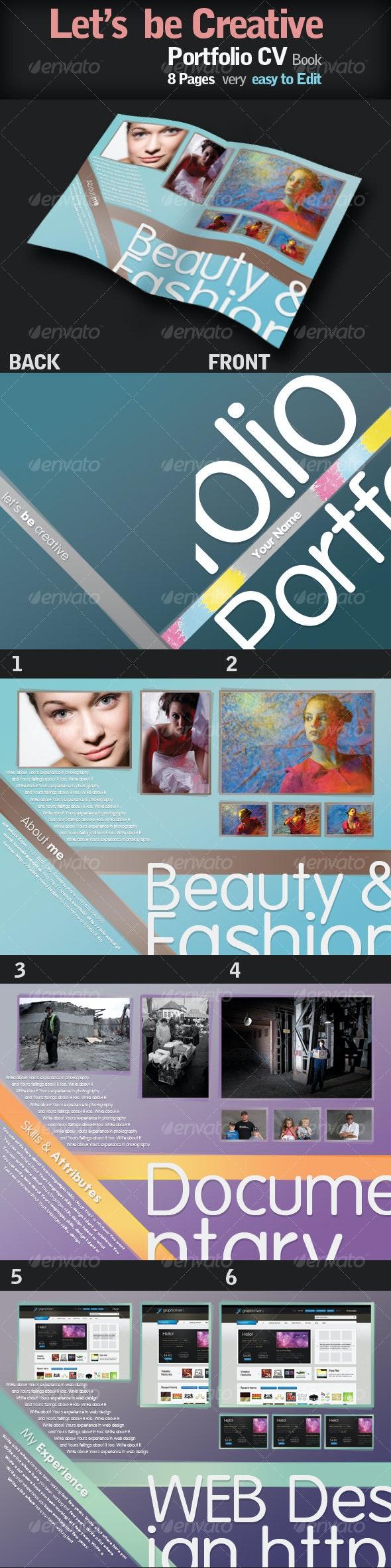 Portfolio CV Book with style - Portfolio Brochures