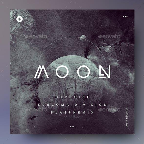 Moon – Music Album Cover Artwork / Video Thumbnail Template