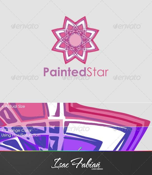 Painted Star Logo Template - Symbols Logo Templates