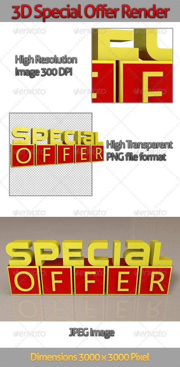 3D Special Offer Render - Text 3D Renders