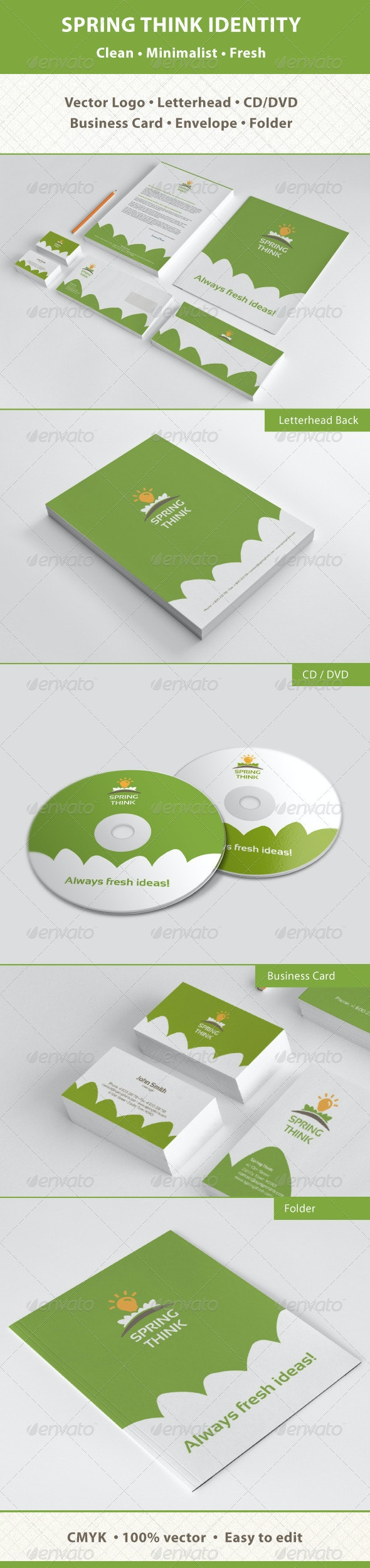 Spring Think Fresh Business Corporate Identity - Stationery Print Templates