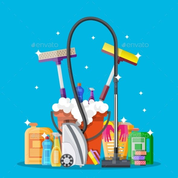 Poster Design for Cleaning Service and Supplies