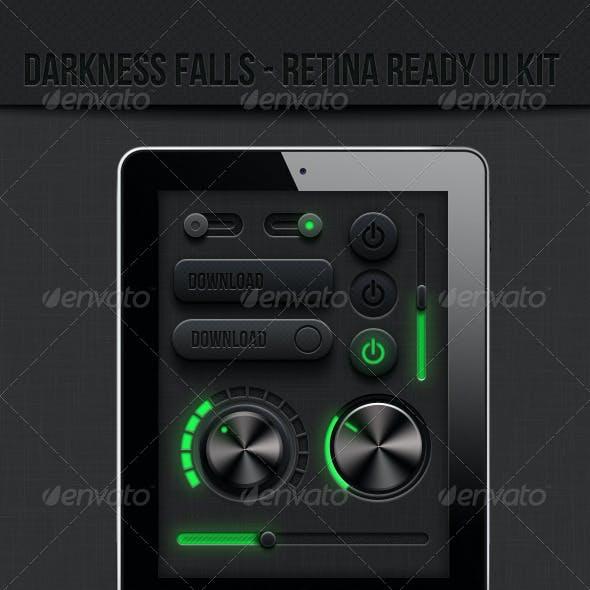 Retina Ready Dark Ui Kit - Darkness Falls Retina