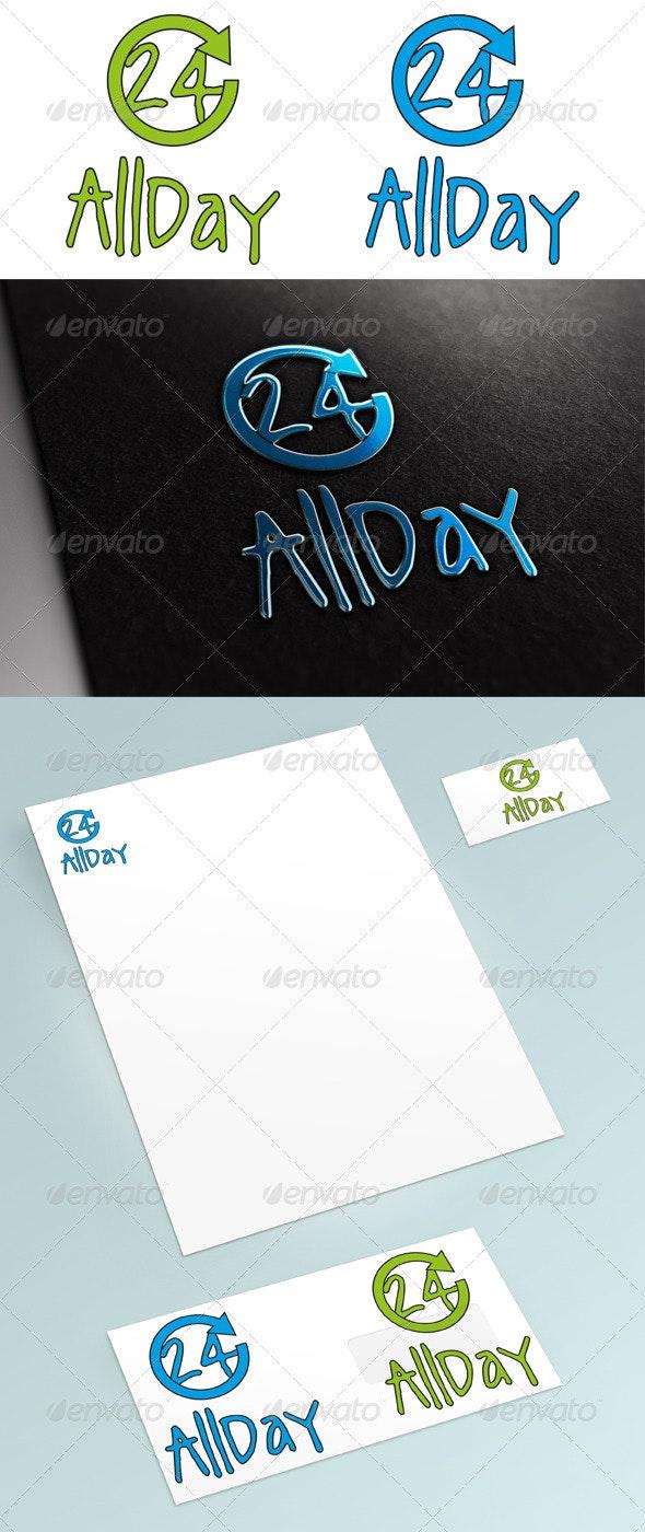 AllDay Logo - Numbers Logo Templates