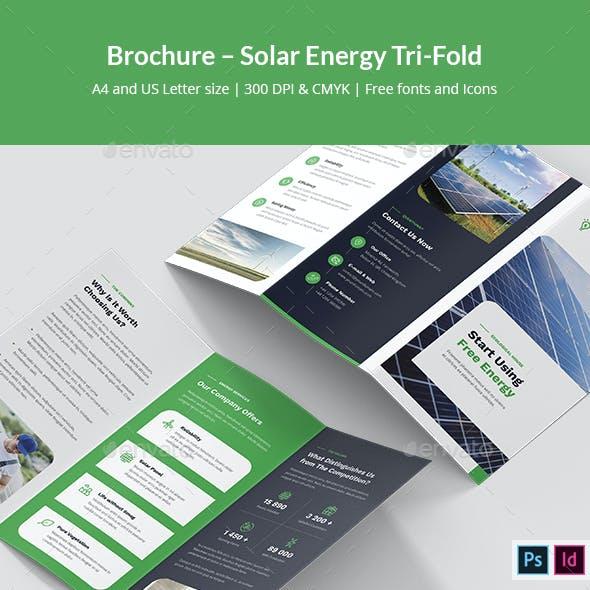 Brochure – Solar Energy Tri-Fold