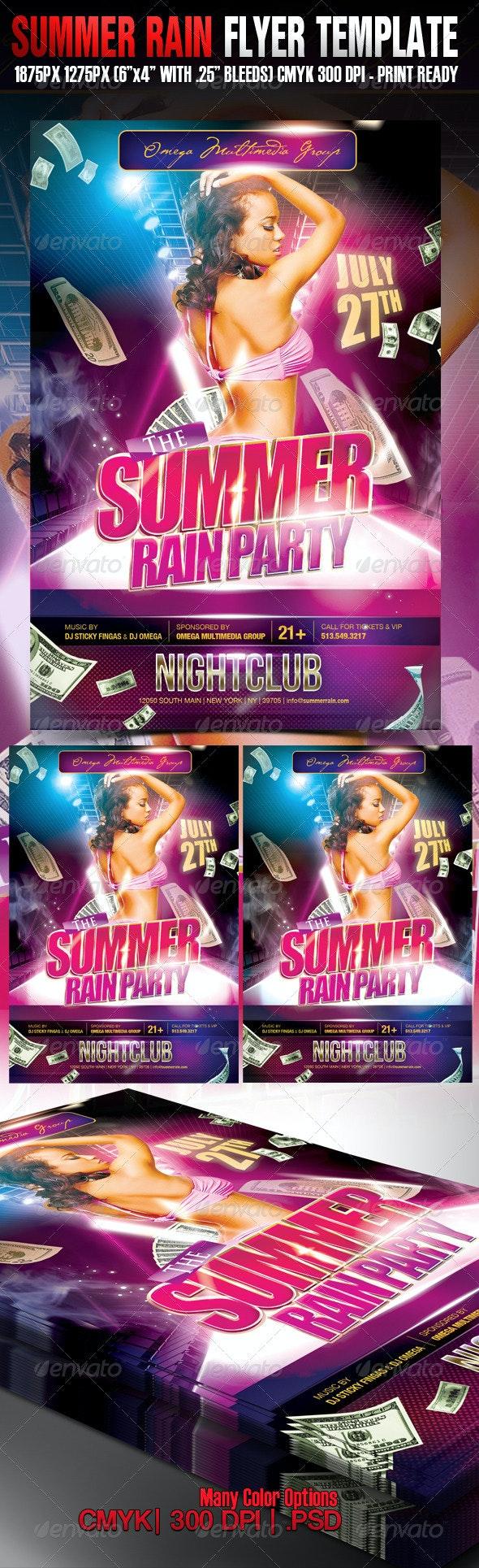 Summer Rain - Clubs & Parties Events
