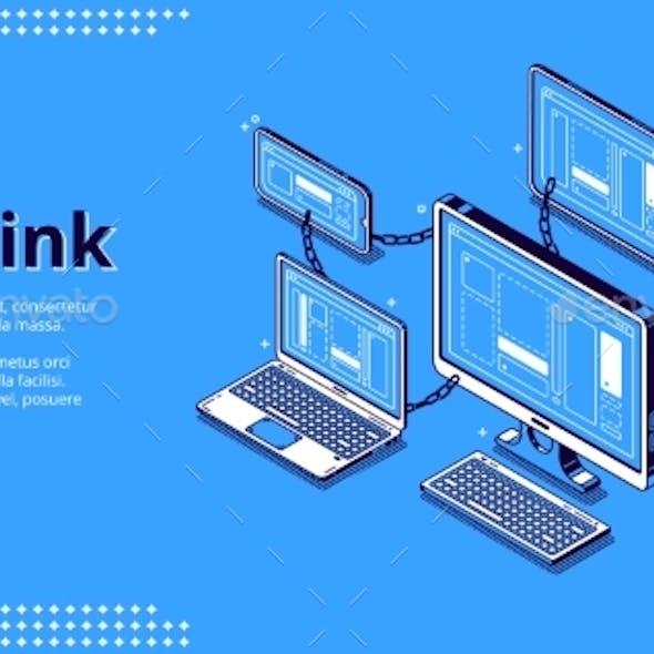 Banner of Backlink, Chain of Hyperlinks