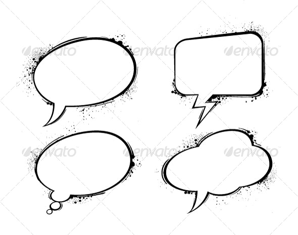 chat bubbles - Abstract Conceptual