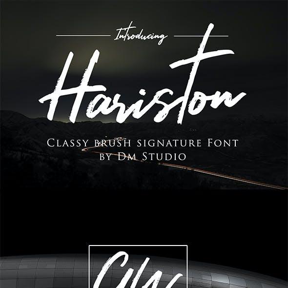 Hariston - Classy Signature Font