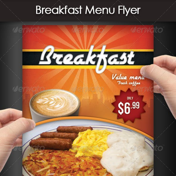 Breakfast Menu Flyer