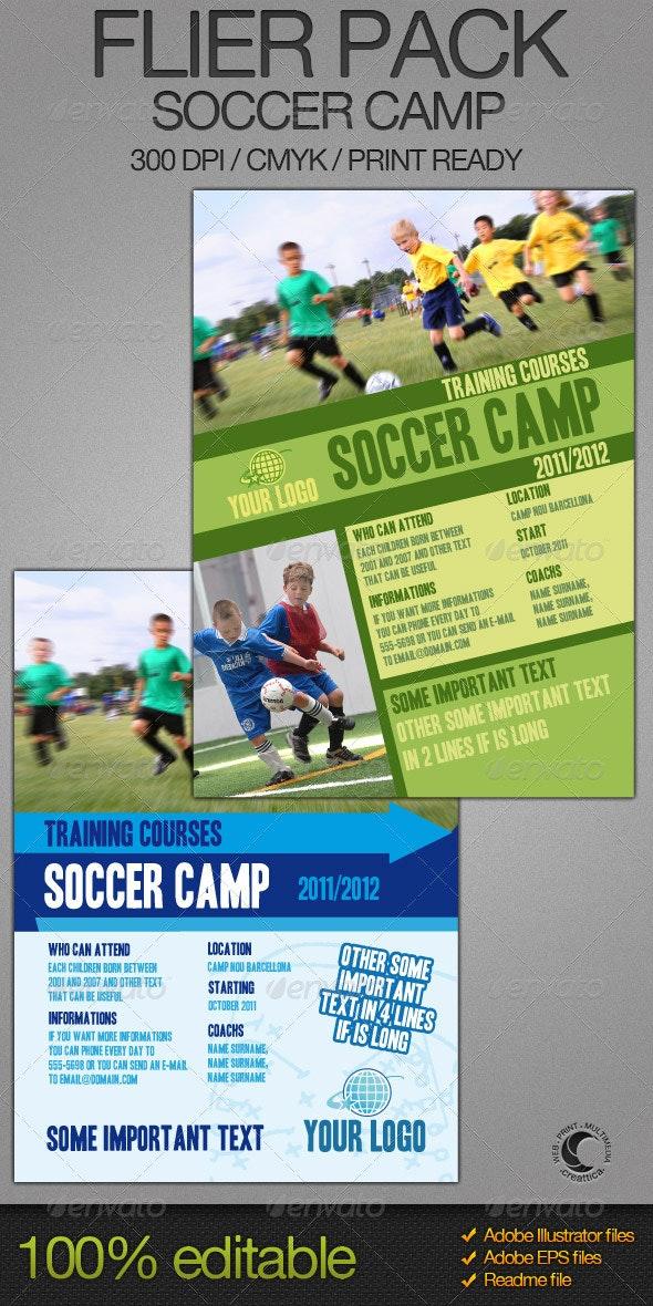 Soccer Camp Flier Bundle - Sports Events