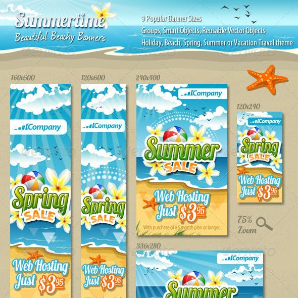 Summertime Banners