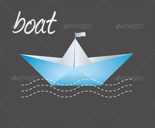 Paper Boat Vector - Miscellaneous Vectors