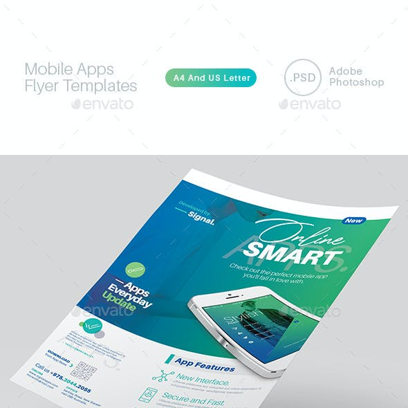 Mobile Apps Flyer Templates