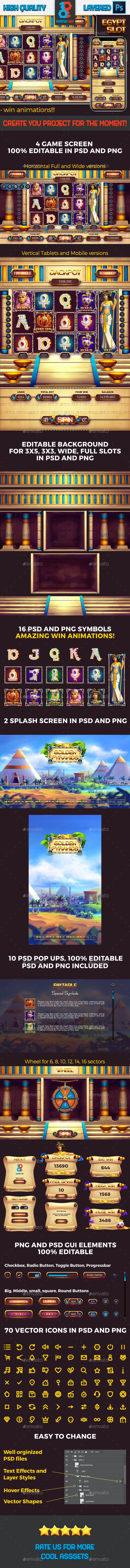 Golden Pyramid Egypt Slot Game - Game Kits Game Assets