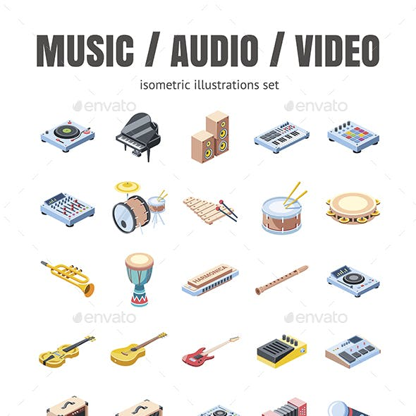 Musical instruments, Audio and Video set
