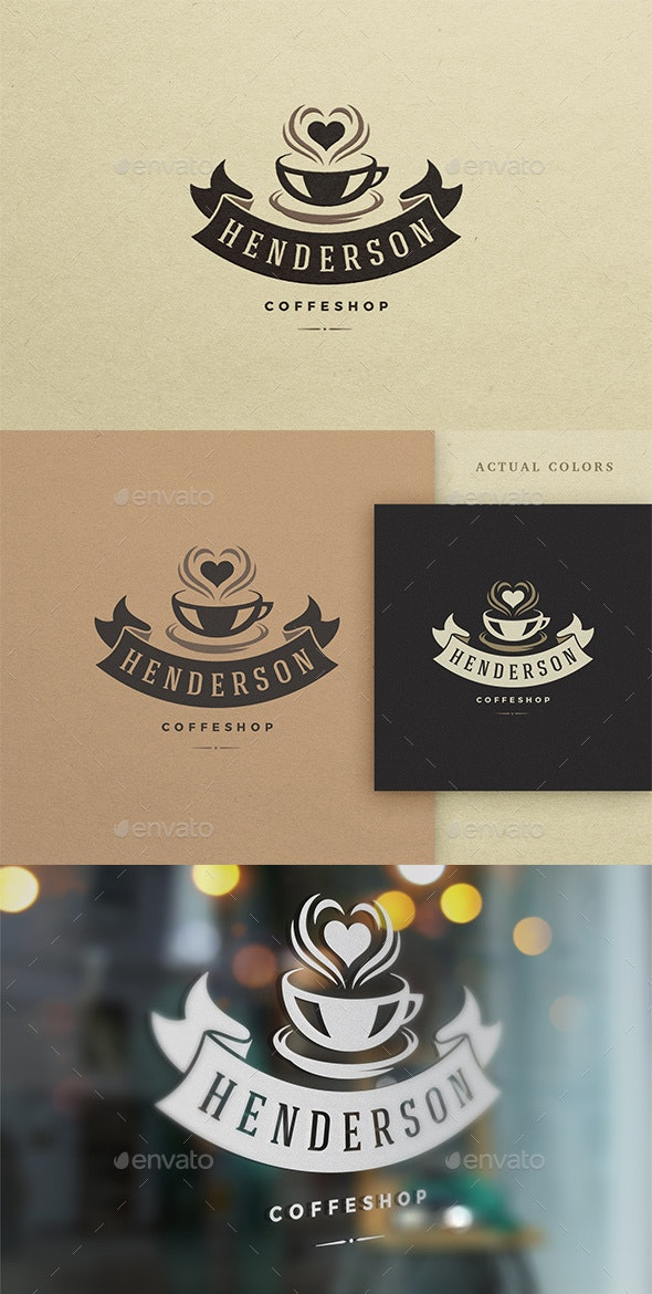 Coffee House Logo Design Template - Food Logo Templates