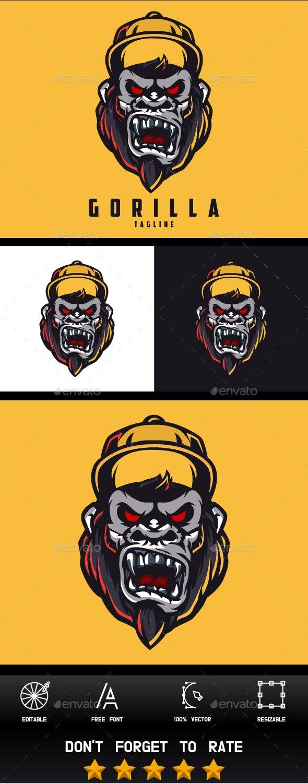 Mad Gorilla Logo Template - Animals Logo Templates