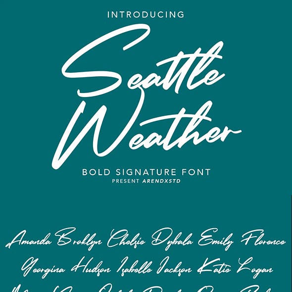 Seattle Weather   Bold Signature