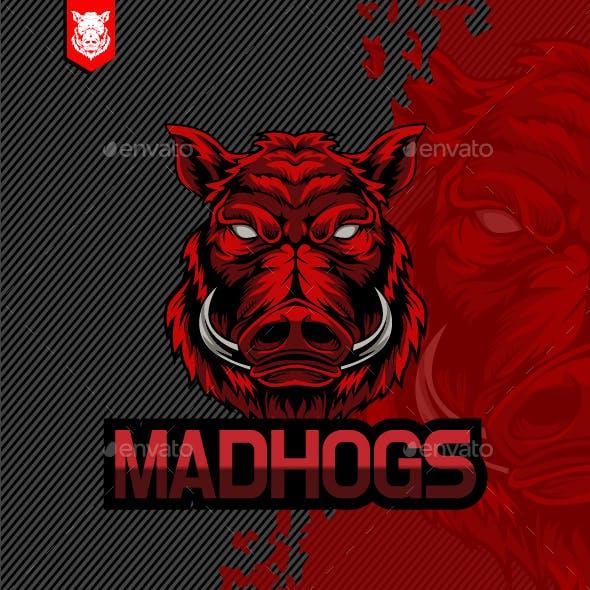 Angry Hog Logo for E-Sport Template