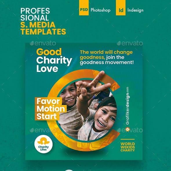 Charity Social Media Templates