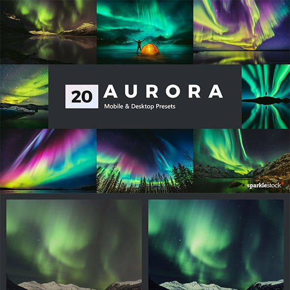 20 Aurora Lightroom Presets and LUTs