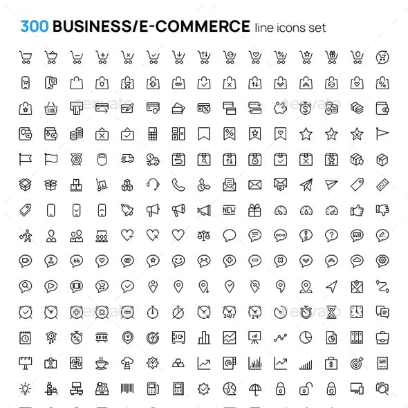 Business and marketing icons 120 set