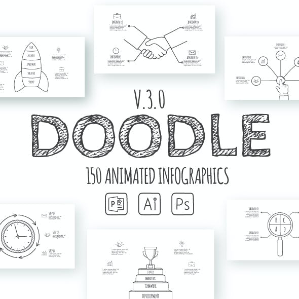 Doodle Animated Infographics Presentations v.3.0