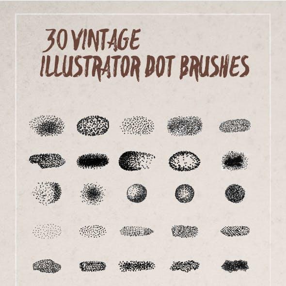 Vintage Dot Brush For Illustrator