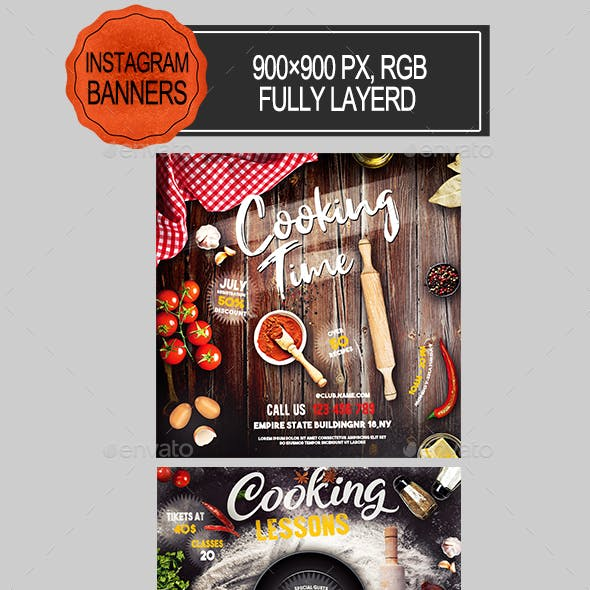 Cooking Lessons Instagram Banners