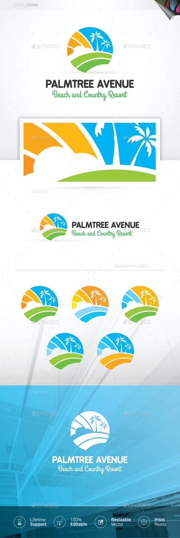Beach Holiday Logo - Company Logo Templates
