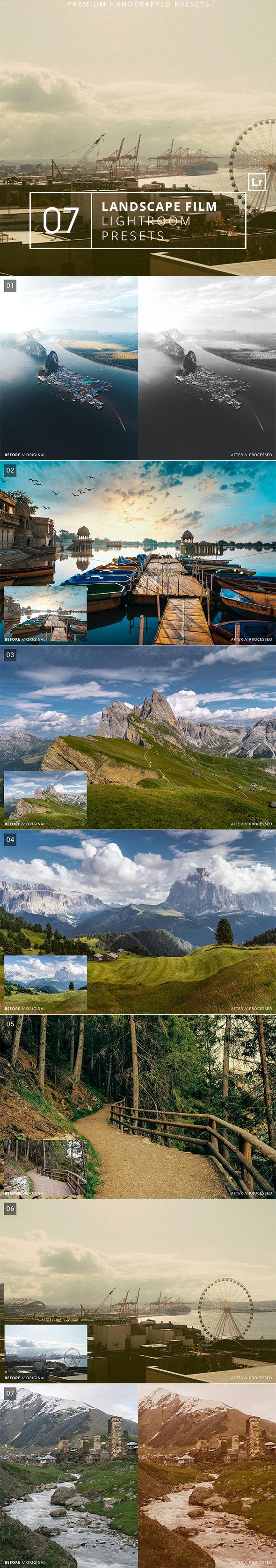 7 Landscape Film Lightroom Presets + Mobile - Landscape Lightroom Presets