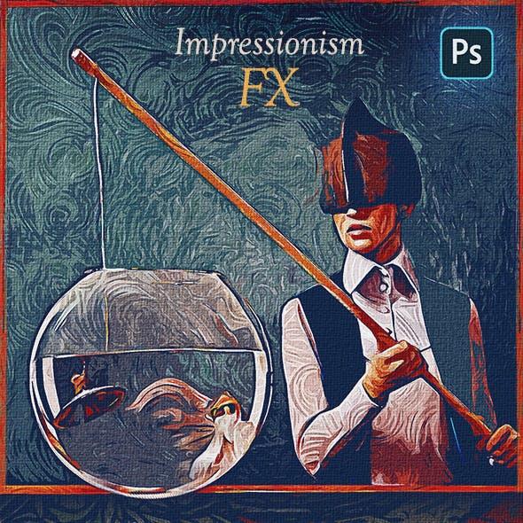 Impressionism Paint FX - Photoshop Add-On
