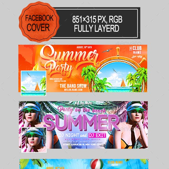 Summer Party Facebook Covers