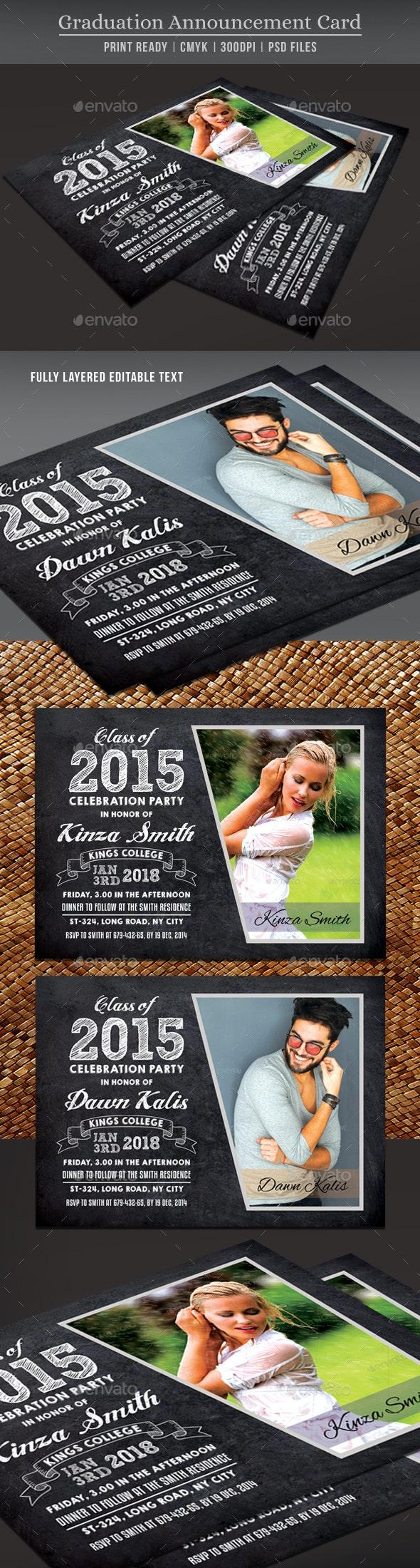 Graduation Announcement Card - Invitations Cards & Invites