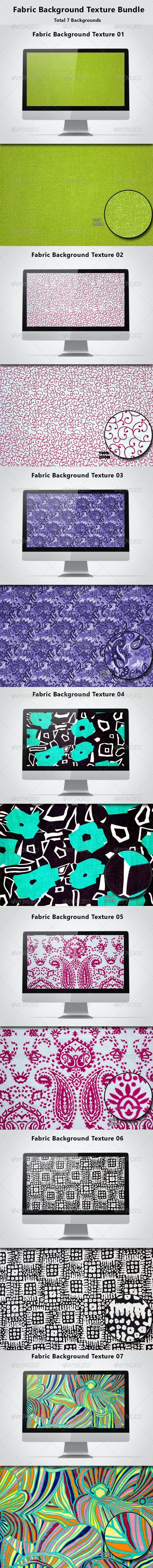 Fabric Background Texture  Bundle - Backgrounds Graphics