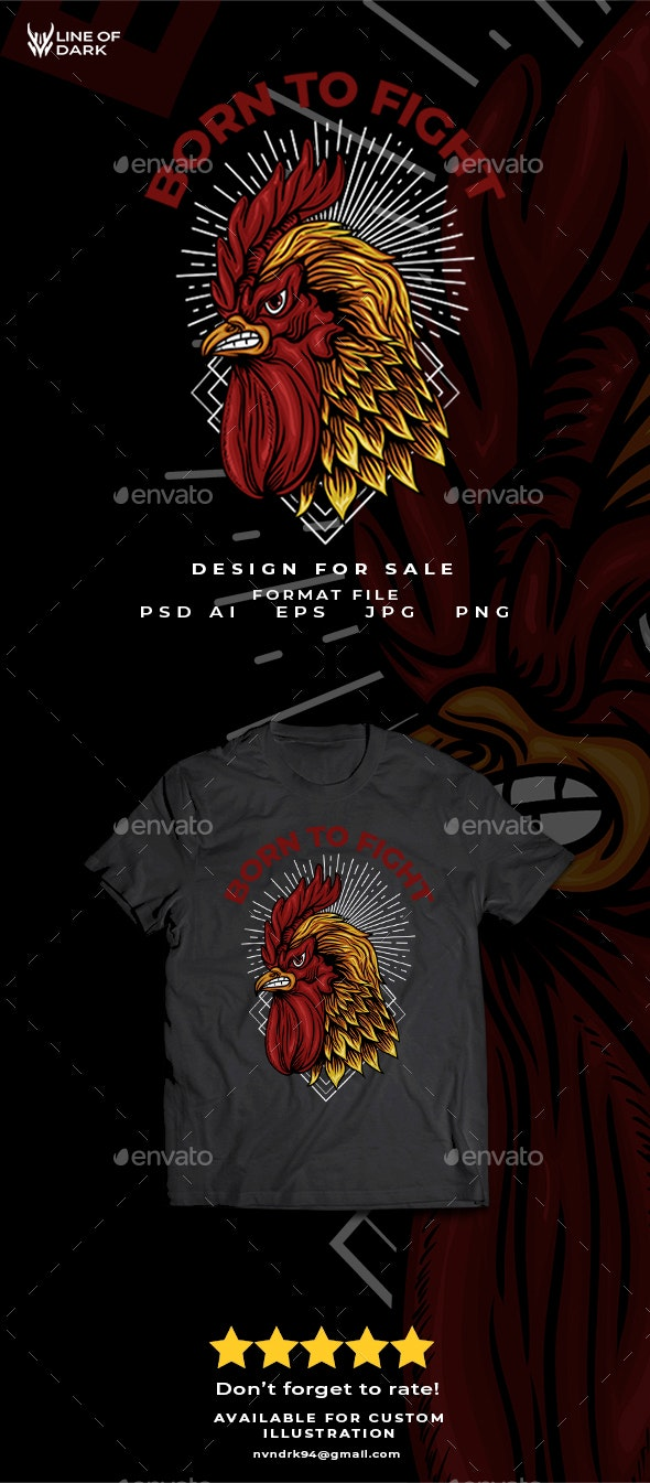 Born to Fighter - Designs T-Shirts
