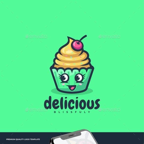 Cupcake Simple Mascot Logo Template