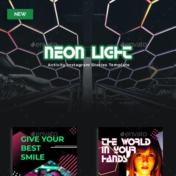 Neon Light - Activity Instagram Stories Template
