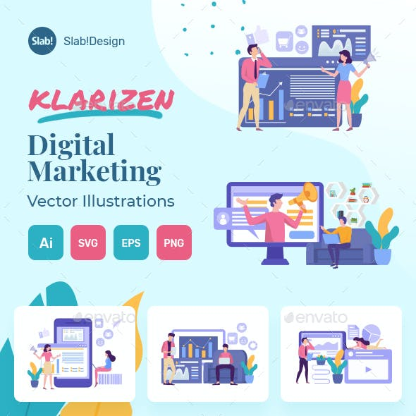 Digital Marketing Flat Illustration 2